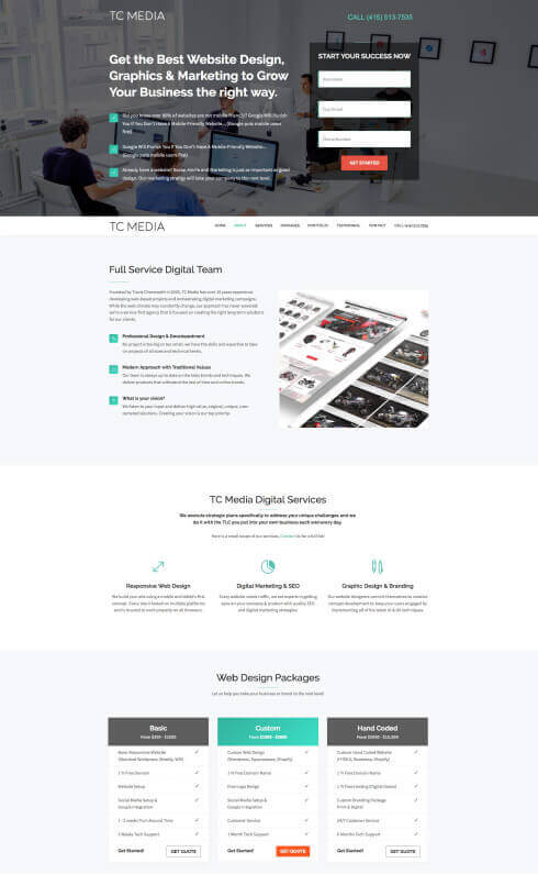 User Interface and User Experience Web Design portfolio by Travis Chenoweth, Phoenix Arizona