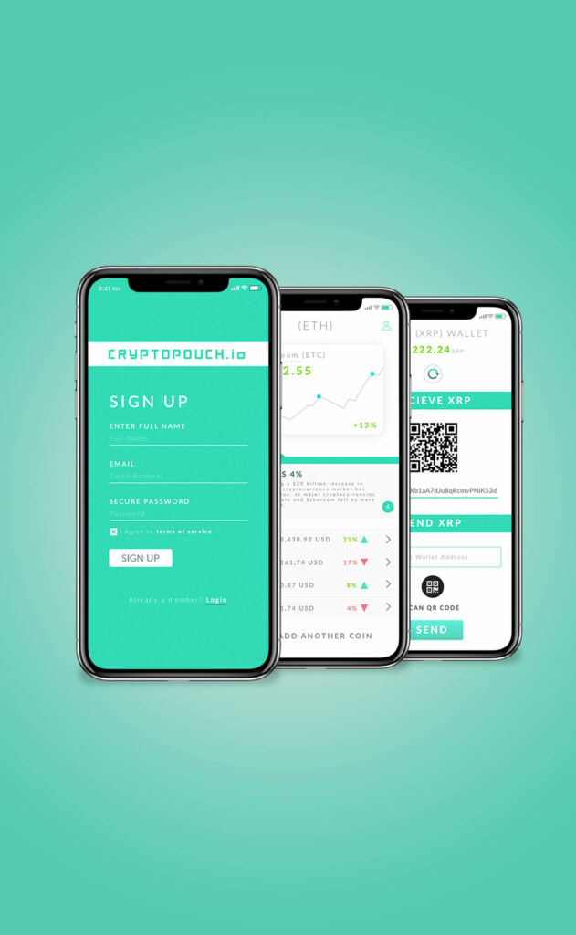 User Interface and User Experience Design, Cryptocurrency wallet and market Concept, by Travis Chenoweth, Phoenix Arizona