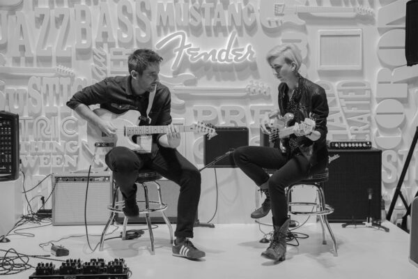 The NAMM Show Los Angeles 2019 - Fender Guitars booth concert Shot by photographer Travis Chenoweth