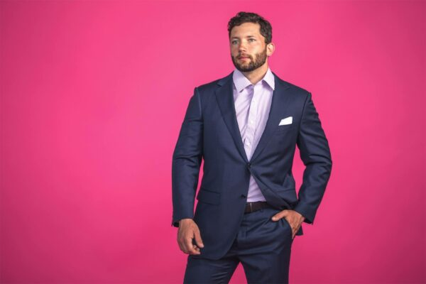 Fashion and Portrait for high fashion mens suits company shot by photographer Travis Chenoweth, Phoenix Arizona