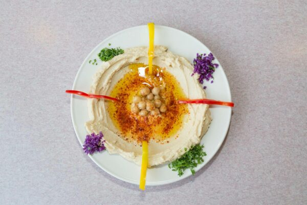 Product Food Photography, Hummus Plate from Aristo Cafe Mediterranean, Torrance, CA - by photographer Travis Chenoweth