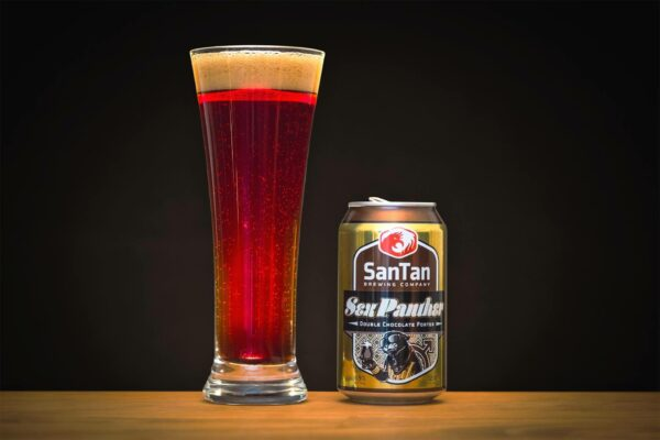 Product Photography Beer, San Tan Brewing Company, Sex Panther Double Chocolate Porter by photographer Travis Chenoweth