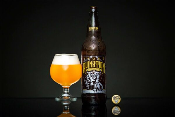 Beer Product Photography, Stone - Ruination Double IPA by photographer Travis Chenoweth