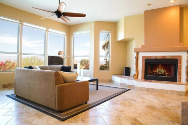 Real Estate Photography, living room and view Fountain Hills by photographer Travis Chenoweth, Phoenix Arizona